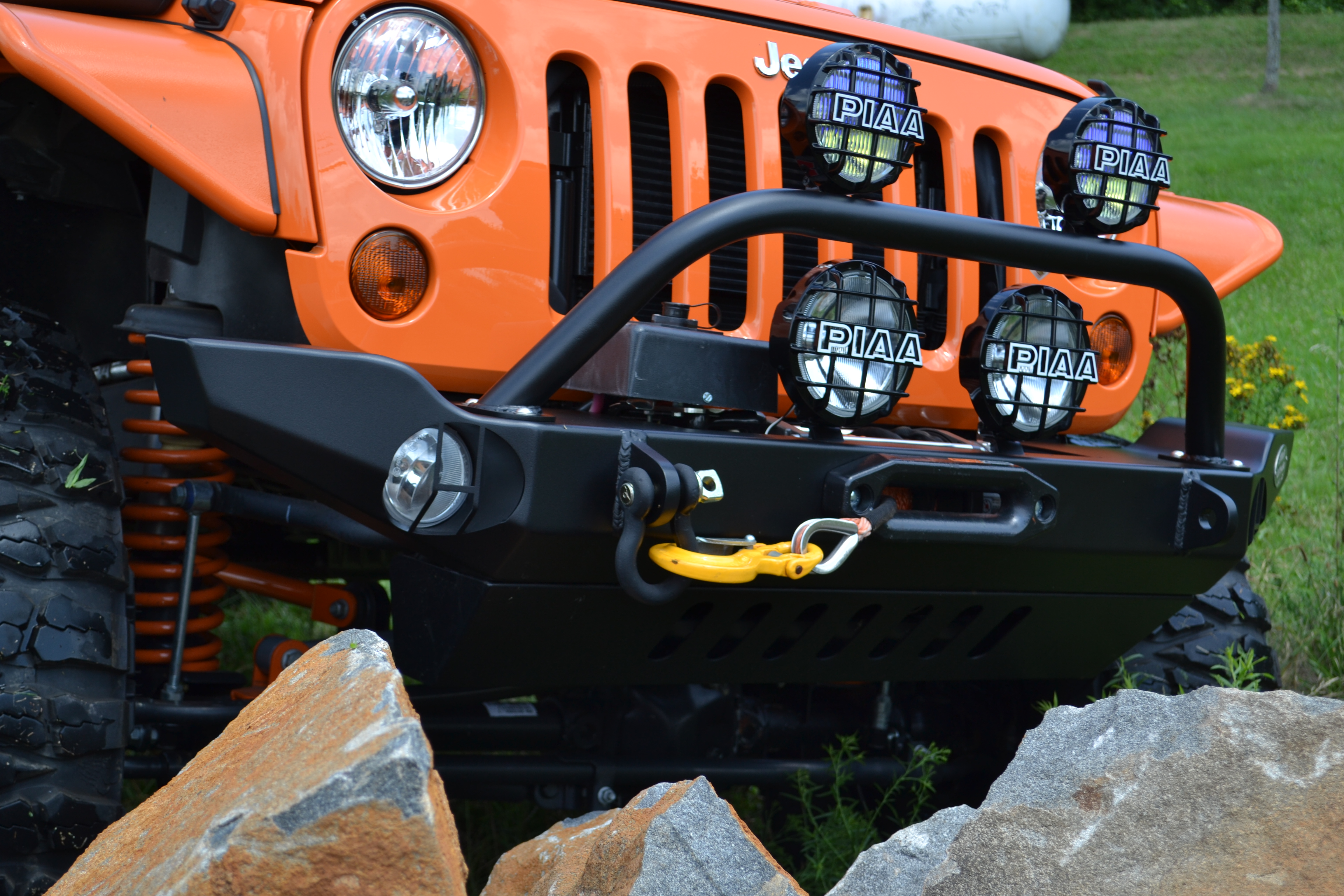 Jeep JK Mid Width Front Recessed Winch Bumper. View the full image ...