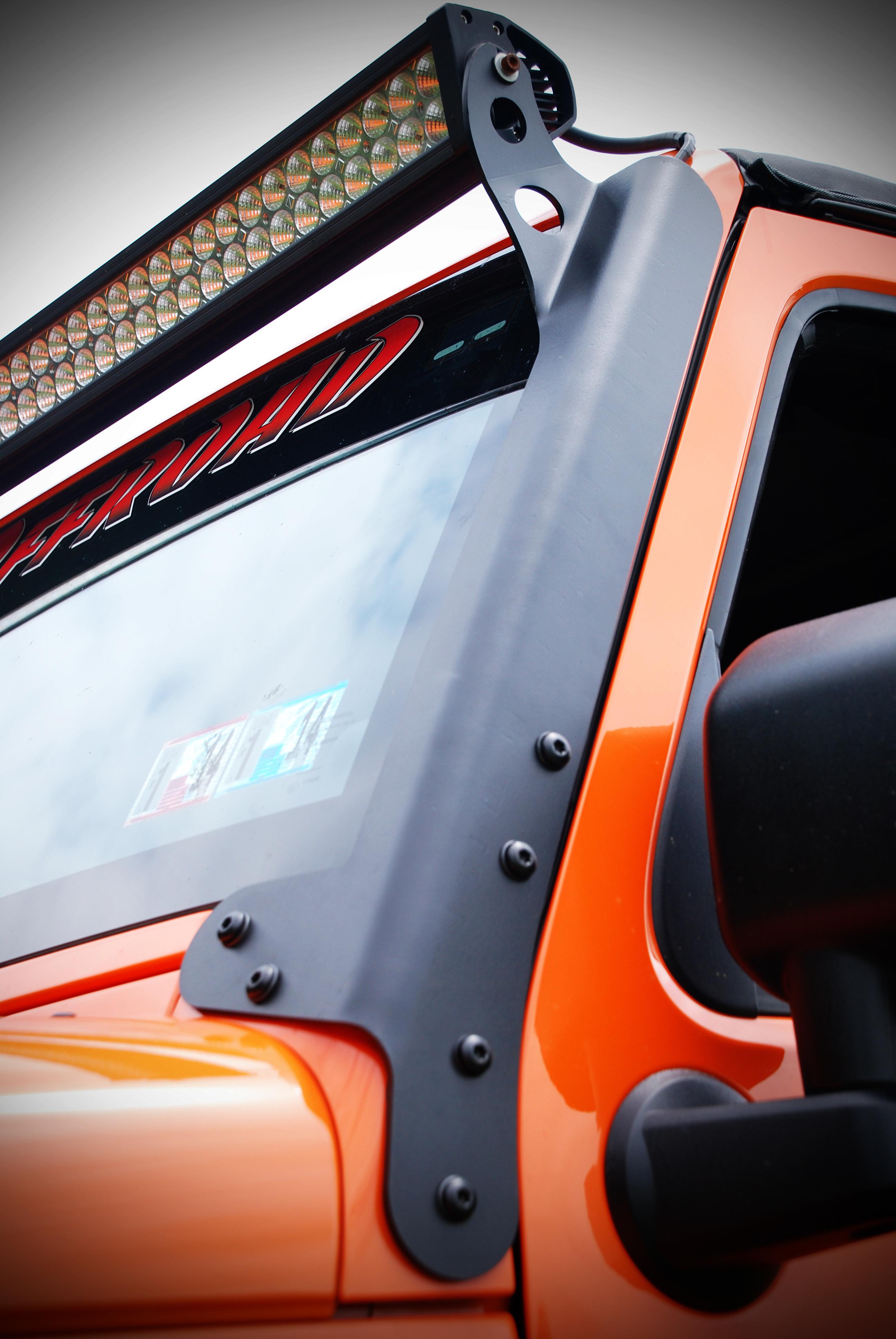 jeep jk led light bar mounting brackets hyline offroad. Black Bedroom Furniture Sets. Home Design Ideas