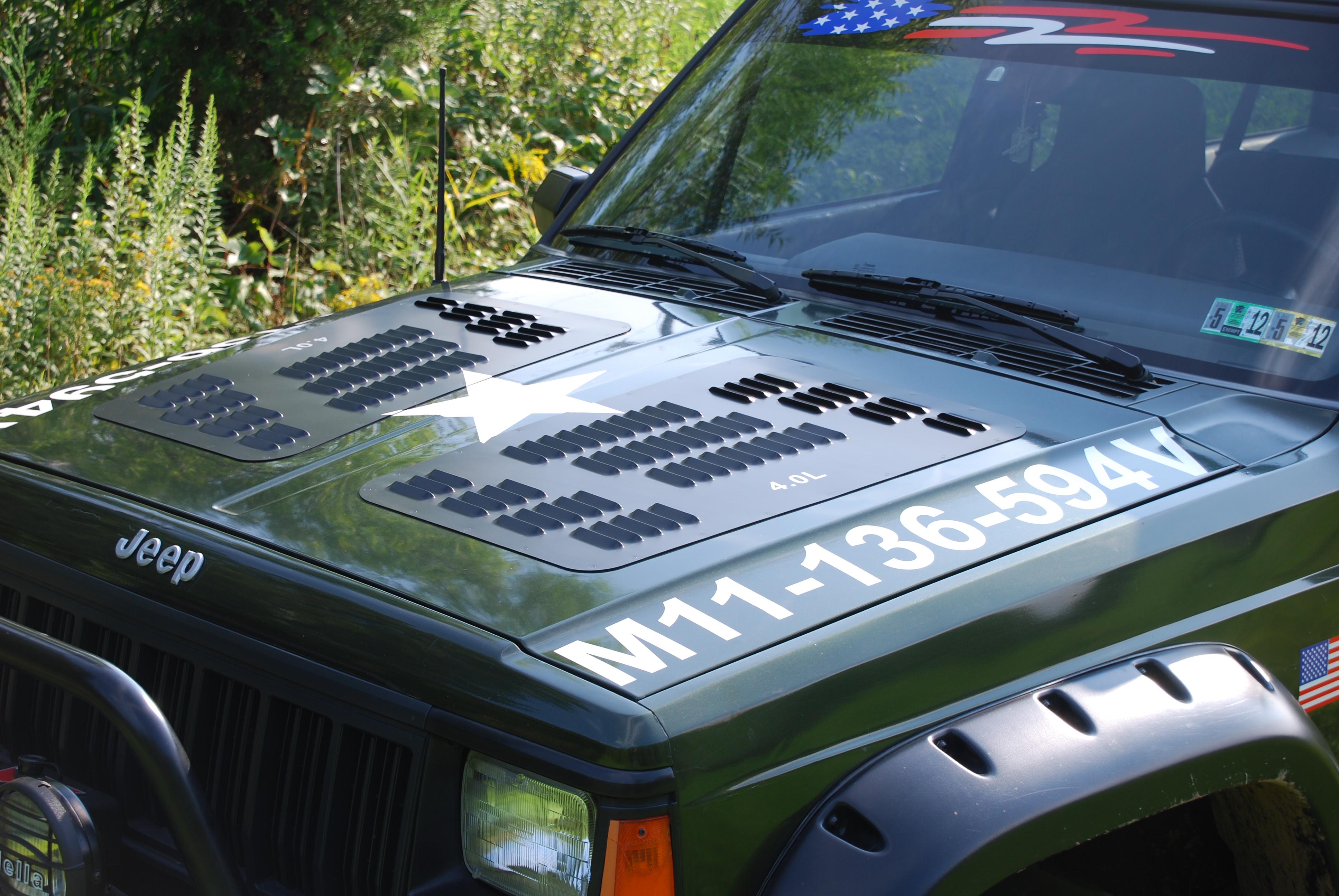 Jeep cherokee vented hood